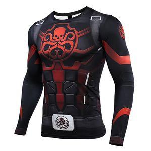 camisetas Hydra capitán América 3D Printed T Hombres Vengadores 4 Final de partida compresión camisa de cosplay manga larga Tops Hombre Y200104