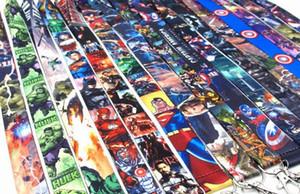 10pcs 20pcs 30pcs 50pcs Avengers Super hero lanyard Neck Strap Lanyard Mobile Phone Key Chain ID Badge Key Chains K15