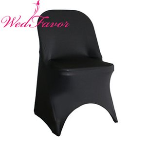 Fodere per sedie pieghevoli in lycra di spandex WedFavor 50 pezzi per decorazioni per matrimoni in hotel