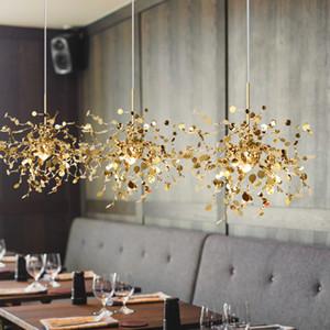 Terzani Argent Lighting ручной работы из нержавеющей стали листовой люстры лампы для гостиной / спальни дома Deor Lighting