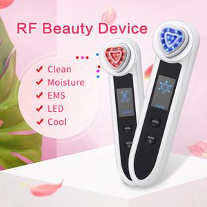 KONMISON LED Photon thérapie RF Radio Fréquence faciale Machine de beauté RF EMS levage Ion nettoyage vibrations yeux visage Massager