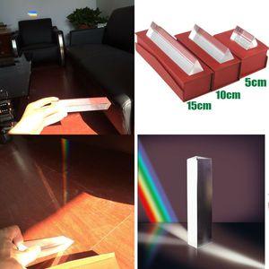 Optical Glass Triangular Prism Marble Triple Triangular Prism Physics Teaching Light Spectrum Crystal Decoration
