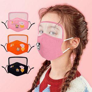 قناع وقائي الأطفال الكرتون القطن مصمم قناع الوجه ثلاثية الأبعاد النقي قناع القطن PM2.5 الغبار أقنعة الوجه