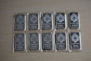 scottsdale brass plated silver bar 1-oz silveRr sealed container 50pcs lot dhl free shipping