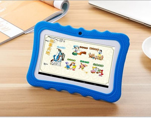 Niños Marca Tablet PC 7 pulgadas Quad Core Niños Tableta Android 4.4 Allwinner A33 Google Player WiFi Big Speaker Cubierta protectora MQ50