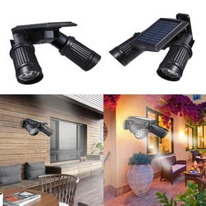 Refletor LED Luz Solar Sensor de luzes de parede PIR externas paisagem para Garden Pathway Pátios Varanda