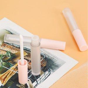 100pcs 3ml Pink Lip Gloss Bottle Frosted Plastics Box Containers Empty Lipstick Tube Lipbalm Split Bottles Accessory