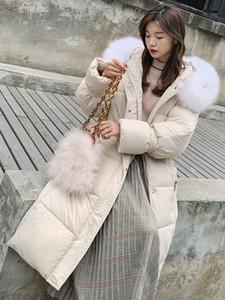 Tor Down-Cotton Frau Zurück Saison Sonderverkaufswinterkleidung 2019 Baumwolle-gepolsterte Kleidung Baumwolle gefütterte Jacke Einfache Studenten