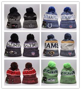 Buon inverno Progettazione Beanie cappelli lavorati a maglia Team Sport Baseball berretti con visiera di pallacanestro delle donne degli uomini cappello caldo inverno