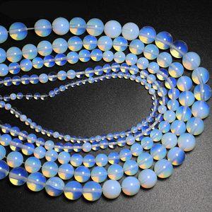 4 6 8 10 12 14mm Opal Gevşek boncuk Yarı kıymetli Doğal Taşlar DIY Bileklik Gerdanlık Takı Aksesuar boncuk