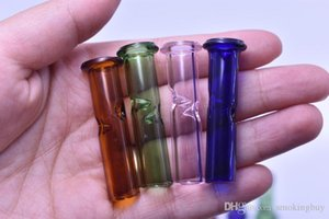 Round Flat Mouth Glass Filter Tips For Tobacco Dry Herb RAW Rolling Papers With Cypress Hill Phuncky Cigarette Glass Feel Drip Tips