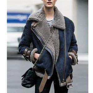 WEPBEL Мода Зимняя куртка женщин плюс размер Сыпучие Твердая с пояса меховой воротник Parkad Plus Velvet Famale пальто S-5XL