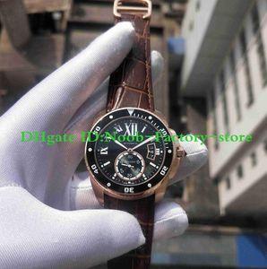 Fotografias da fábrica CALIBRE DE série W7100051 relógio Rose Case Movimento Automático de Trabalho dos homens Esporte Relógios De Pulso Caixa Original