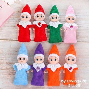 Frete grátis 50 de Ano Novo PCS Duendes do bebê Baby Gift Decoração Elf Boneca Toy Dolls Childrens Brinquedos Bebê Mini Boneca Rosa Vermelho Verde etc