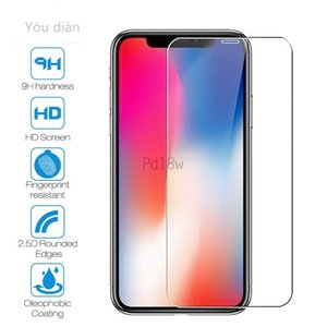 5PCS-Tempered Glass For iPhone X XS MAX XR 5s SE 5c Screen Protective Film 6 6s 7 8 Plus 11 pro Glass Protector