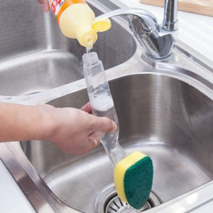 غسل صحن الصابون أداة التعامل مع إعادة الملء السلطانيات المقالي الكؤوس فرشاة تنظيف الإسفنج لأدوات المطبخ النظيفة VT0338