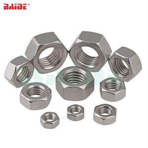 DIN934 M8 M10 M12 M14 M16 M18 M20 304 acciaio inox A2-70 Filetto metrico dado esagonale Dadi esagonali 500 pz / lotto