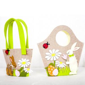 Osterhase Handtasche Nordischen Stil Stoff Einkaufstasche Osterei Kaninchen Tragbare Aufbewahrungstasche Ostern Party Festival Taschen