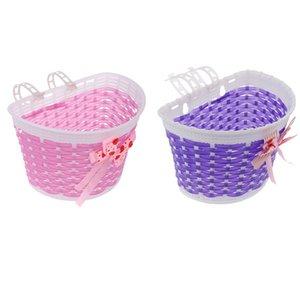 2Pcs Kids Cycling Bike Bicycle Handlebar Bag Front Basket Pouch Detachable