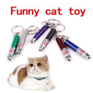 Лазерная забавный кот палку новый холодный красный лазерная указка играть детей играть кошка игрушка для кошек указка Pen интерактивная игрушка