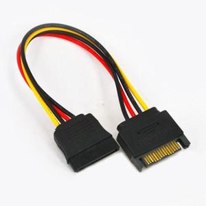 200pcs haute qualité cordon SATA 15 broches (M) à sata (F) Extension sata adaptateur câble d'alimentation