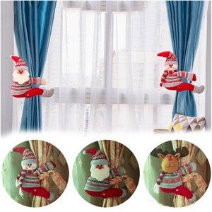 Weihnachten Vorhang Schnalle Halter Weihnachtsmann Snowman Elk Curtain Tie-back Schlafzimmer Hakenbefestigungsschelle Weihnachten Home Décor