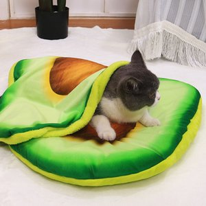 Cartoon Pet Bed Dog Pets Cat Mat for Dogs Blanket Kennel Teddy Four Seasons Durable Soft Toast Bread and Poached Eggs Pizza Mats
