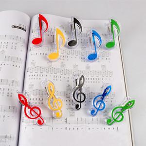 Livre de musique Note clip Piano Plastic Music Book page clip Treble Clef clip musique Accessoires Party Favor cadeaux