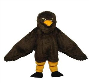 Halloween Deluxe Cute Brown Eagle Maskottchen Kostüm Hohe Qualität Cartoon Hawk Vogel Anime Thema Charakter Weihnachten Karneval Party Kostüme