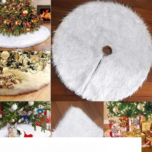 Árvore de Natal branco Plush Neve Cotton Base de Tapete Tampa Xmas Decor Ornaments