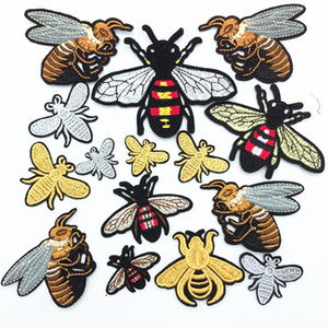 50pcs Many design Embroidery Bee Patch Sew Iron On Patch Badge Fabric Applique DIY craft consume