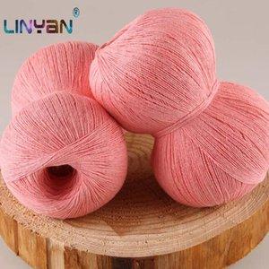 500g fios de algodão puro natural, 48% para crochet 52% de fios de linho de seda para tricotar Verão bebê linha Knitting ZL5200 linha da agulha