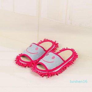 All'ingrosso-Cotton Sorriso modello pantofole multifunzionale pigra mop pulito pantofole scarpe Casa L16