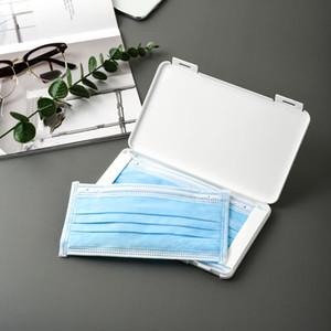 Portable Regular Mask Storage Box Rectangular Keep Clean Dust Proof Mask Case Organizer