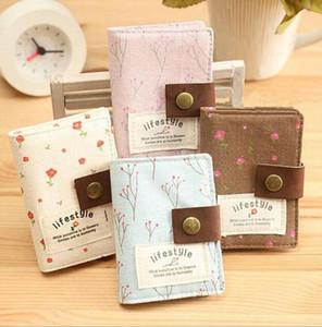 패션 여성 신용 카드 가방 한국어 스타일의 슬롯 꽃 버스 비즈니스 신용 ID 카드 팩 지갑