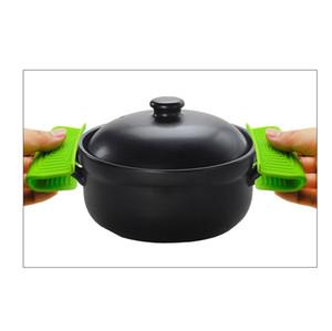 Silicone Anti Scalding Pot Réfractaire Coquilles Casserole haute température Cuisine résistant Protège-main clip Potholder LJJP83
