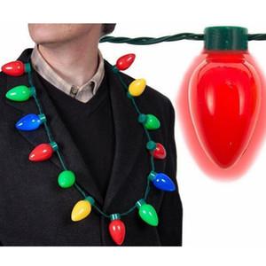13 Lampadina LED Lampeggiante Collana Lampadine Torcia Luminosa Decorazioni natalizie Fascino Bomboniere Forniture regalo TTA1788