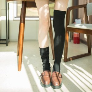 20191007 Novo Tipo de Knee Socks Feminino Cotton longo tubo no Outono e Inverno