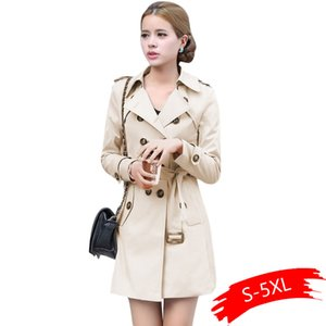 Trench Coat For Women Double Breasted Slim Fit Long Spring Coat Casaco Feminino Abrigos Mujer Autumn Outerwear