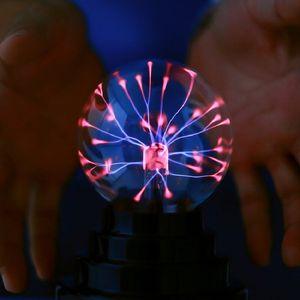 터치 센서 구체 매직 플라스마 볼 USB 참신 유리 볼 조명 구체 나이트 라이트 정전기 이온 램프 밤 LED 선물