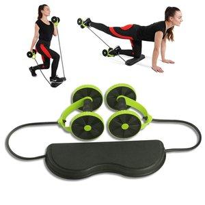 AB Räder Bauch Roller Exercise Equipment Stretch Elastic Abdominal-Widerstand-Bänder für Workout Muskeltrainer Y200506