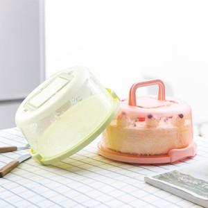 المحمولة مربع كعكة مع غطاء مشبك تصميم مقبض جولة صناديق تخزين الغذاء كعكة تقف أدوات المطبخ كعكة عيد عرس حزب اللوازم
