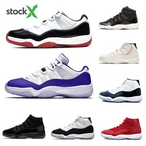 Nike Air Jordan Retro 11 Stock X 2020 White Bred Low Concord 11 Mens Basketball shoes Snakeskin 11s Cap and Gown space Jame Men Women Sports Designer sneakers 5.5-13