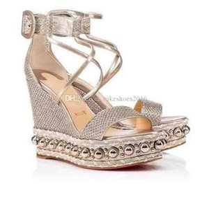 Comfortable Women's Sandals Ladies Red Bottom Shoes For Women's Colombe Glitter Diams Chocazeppa High Heels Women Gladiator Sandals Dress