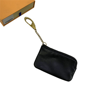 Key Portafogli Portamonete Portafoglio Holder Key Card Pouch Mens delle donne di carta di cuoio Borse Catena Mini Portafogli borsa della moneta della borsa della frizione 82 346