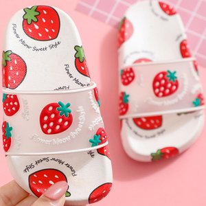 Children Slippers Summer Girls Shoes Cute Fruit Pattern Strawberry Slippers Home Indoor Non-slip Soft Bottom Children's