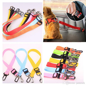 Adjustable Pet Dog Safety Seat Belt Nylon Pets Puppy Seat Lead Leash Dog Harness Vehicle Seatbelt Pet Supplies Travel Clip DC969