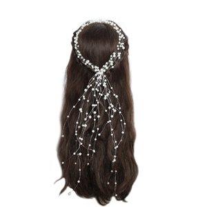 Accessori per capelli da sposa in cristallo da sposa Accessori per capelli perlati per capelli Fascia per capelli fatti a mano perline Decorazione per capelli Pettine per donne JCG158