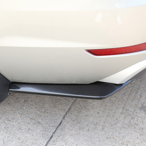 2 Pieces Car Rear Bumper Lip Skirt Protector Splitter Body Spoiler Black
