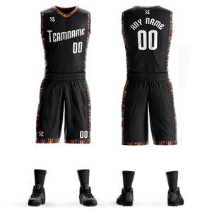 Personalizada Jersey de la universidad de baloncesto para hombre Establece Uniformes de bricolaje kits Niños Ropa de deporte respirable Modificado para requisitos universitarios Jersseys Equipo de baloncesto